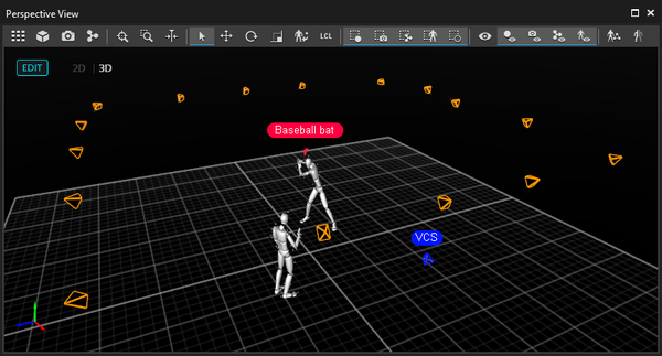 3D perspective view pane in Motive